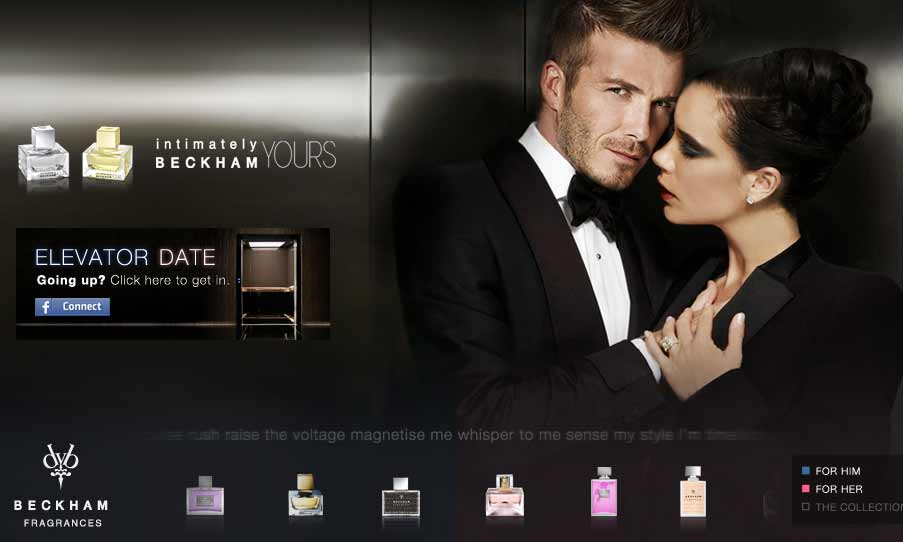 Beckham Perfumes website Preview