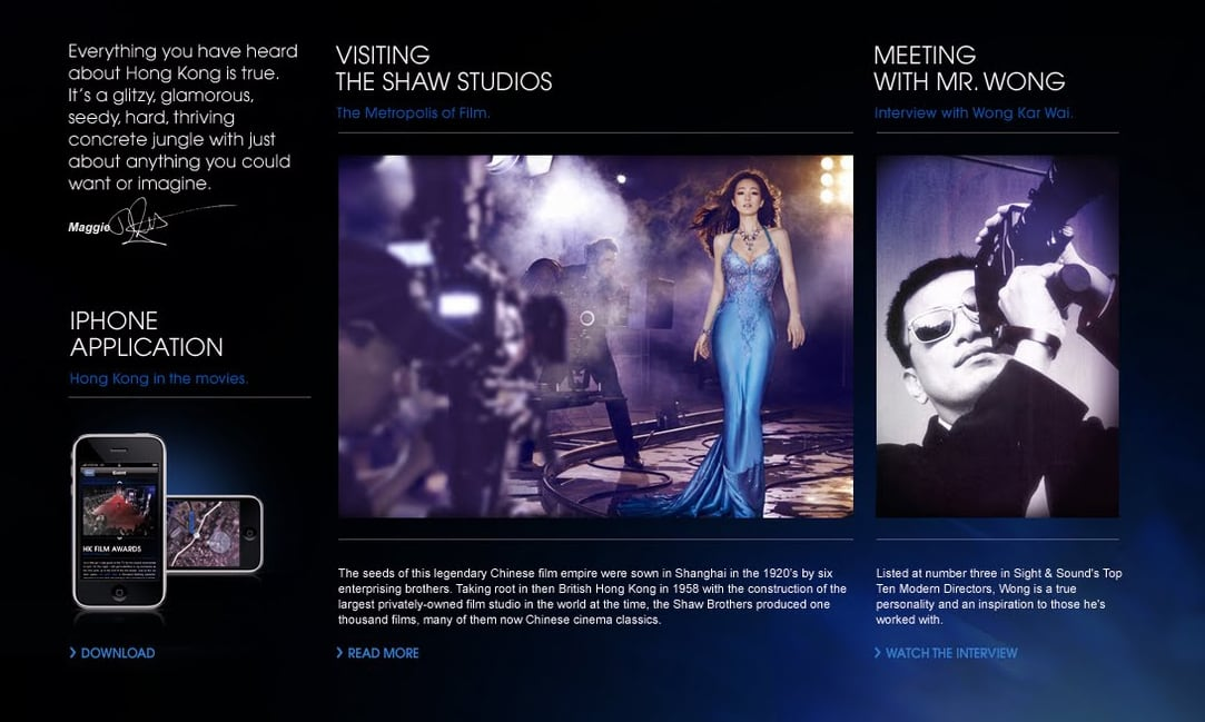 Chopard online magazine concept Preview
